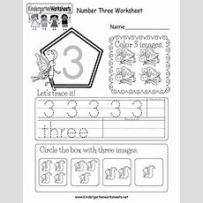 Number Three Worksheet  Free Kindergarten Math Worksheet For Kids