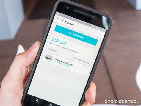 uber android uber offers up 10 in ride credit when you pay with