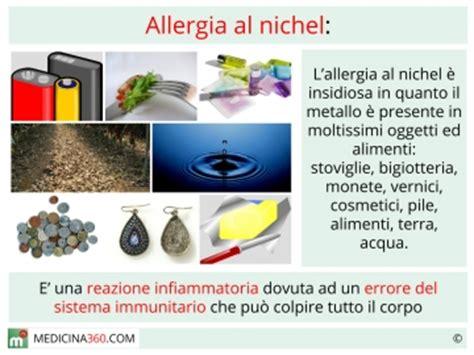 alimenti contenenti nikel allergia