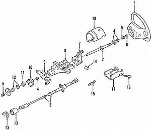 Ford F-250 Steering Shaft  Excursion  F250 Pick-up  F350  Lower