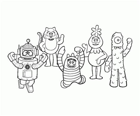 yo gabba gabba coloring pages  coloring home