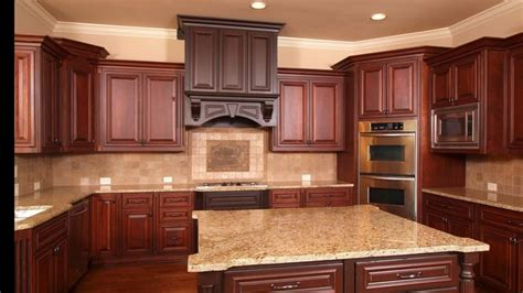 A kitchen backsplash can be useful in protecting your kitchen walls against water. Kitchen Backsplash Ideas With Cherry Cabinets - YouTube