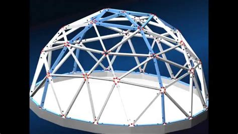 Geodesic Domes Constructed With Triangles Having Builtin