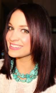 Burgundy and Dark Brown Hair Color