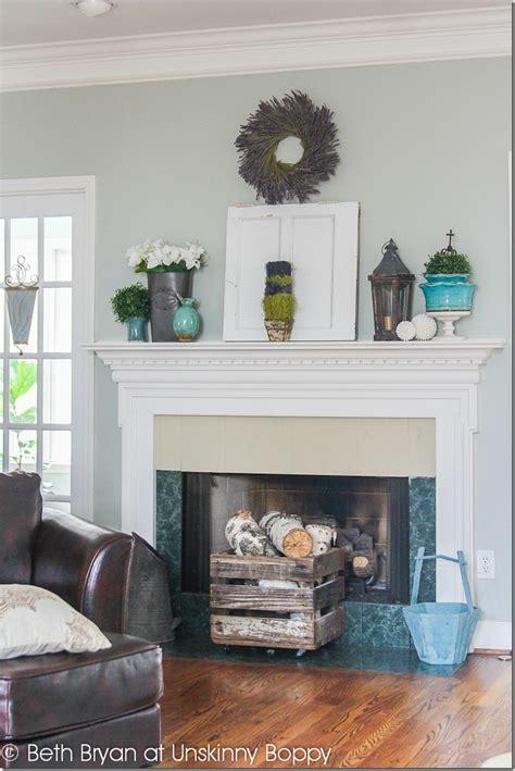 Spring mantel Decorating and a Fireplace WWYD   Unskinny Boppy