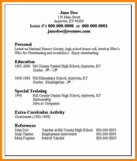 5 resume exles high school student ledger paper