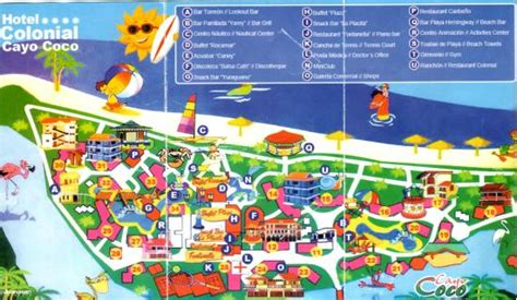 Grounds Map Picture Hotel Colonial Cayo Coco