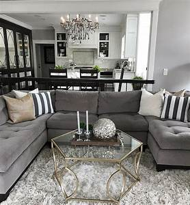 Change, Up, The, Gray, Couch, With, And, Chic, Black, And, White