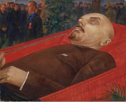 Lenin Coffin Russian Vodkin Painting Vladimir Petrov