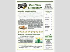 Newsletter West View Elementary School