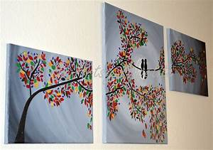Home Decor An Artsy Appetite Lovebirds In Colorful Tree