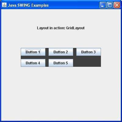 java swing layout swing gridlayout class