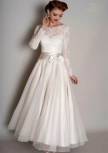 best tea length dresses with sleeves for wedding guest With tea length wedding dresses with sleeves