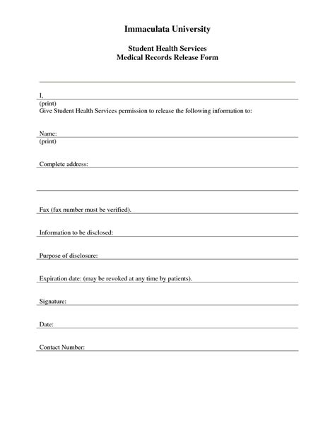 medical release form template business mentor