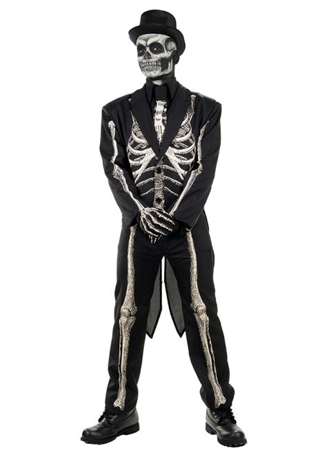 bone chillin skeleton men costume scary costumes