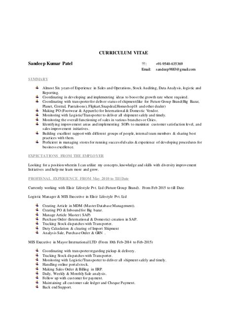 Mis Analyst Resume by Mis Executive Data Analyst