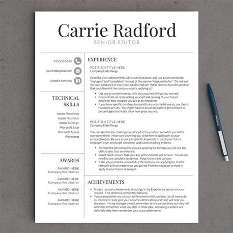 Free Resume Template Reviews by Professional Resume Template For Word Pages
