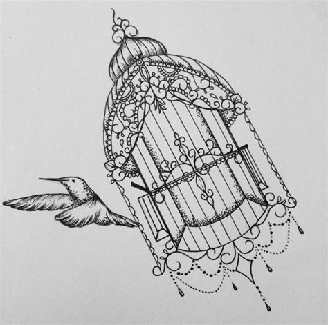 Old Bird Cage Tattoo  Wwwimgkidcom  The Image Kid Has It