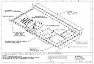 Profondeur Plan De Travail : cuisine inox sur mesure ~ Nature-et-papiers.com Idées de Décoration