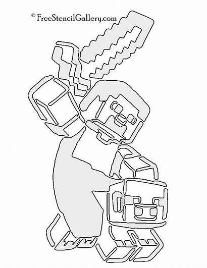 Minecraft Stencil Stencils Template Ste