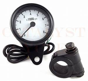 Black Tachometer For All Dual Fire Ignitions Motorcycle