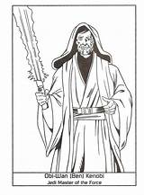 Windu Coloring Mace Pages Getcolorings Master sketch template