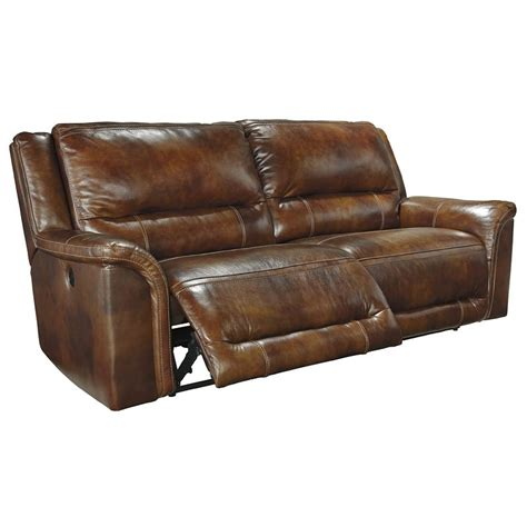 Leather Power Reclining Sofa by Jayron Leather 2 Seat Power Reclining Sofa By Signature