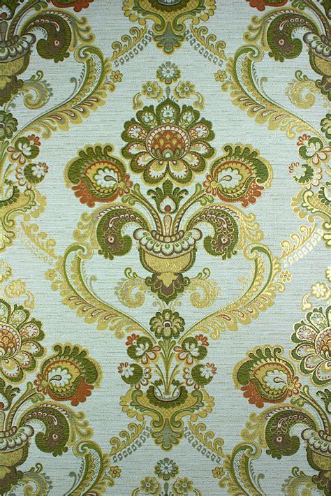 green  gold damask wallpaper gallery