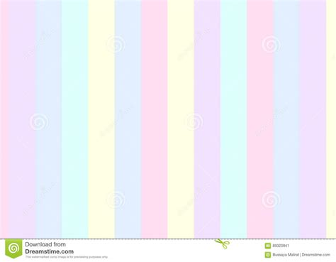 Strip Pattern, Pastel Colors Vector Illustration Stock