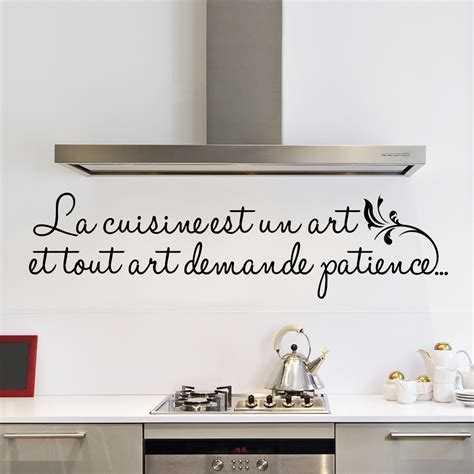 carrelage ciment cuisine sticker la cuisine est un stickers citations
