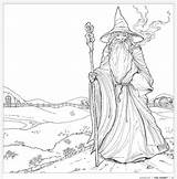 Coloring Colouring Gandalf Pages Hobbit Tolkien Adults Books Lord Rings Pattern Adult Geeky Sheets Whsmith Tolkiens Lotr Printable Colour Earth sketch template