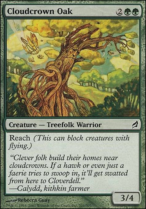 Mtg Green Treefolk Deck by Cloudcrown Oak Mtg Card