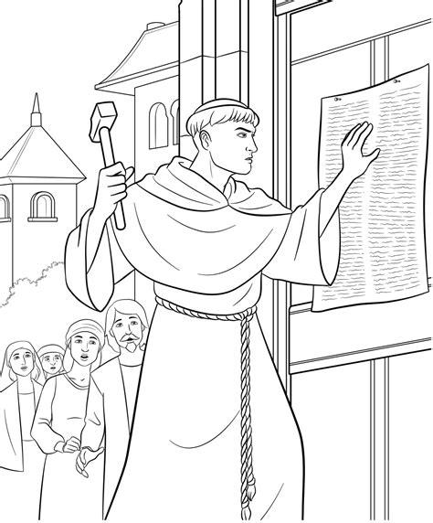 Kleurplaat Maarten Luther de fakkeldragers