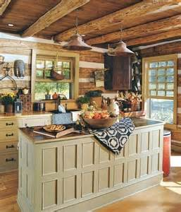 Primitive Kitchen Paint Ideas by Cabin Style Country Inside Me Pinterest Wood Colors