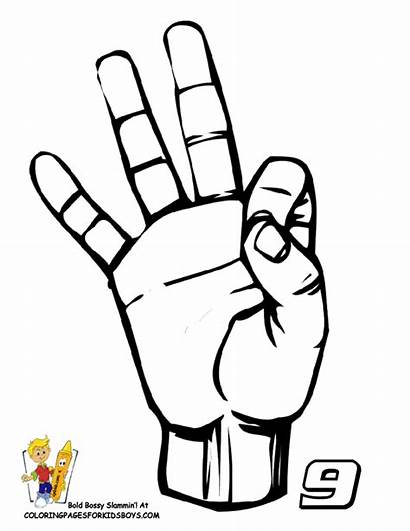 Language Sign Coloring Asl Pages American Clipart