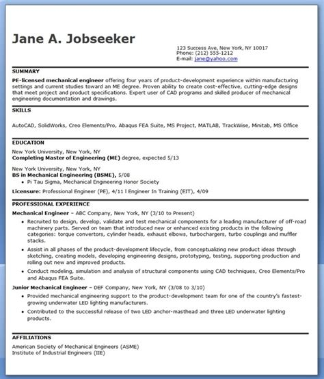 sle resume format for experienced mechanical engineer 28 mechanical engineering resume sle pdf experienced
