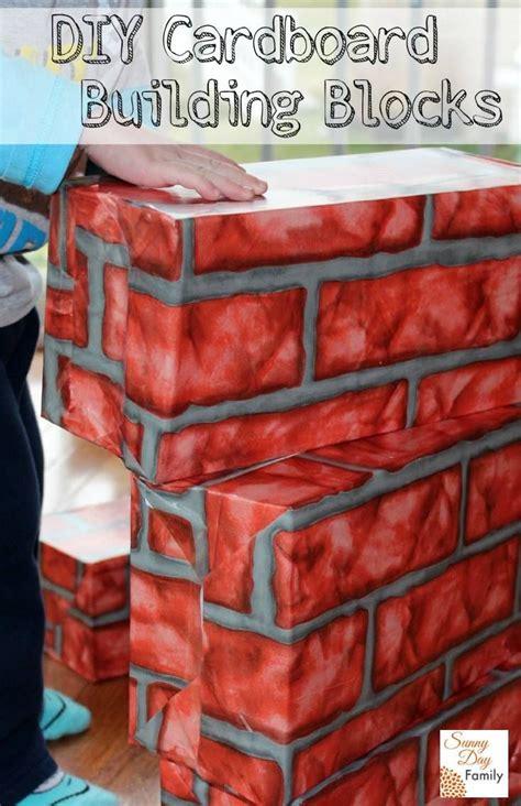 diy cardboard building blocks cardboard building blocks
