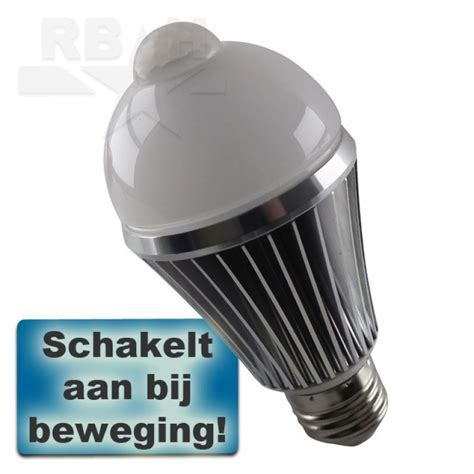 E27 LED lamp met bewegingssensor