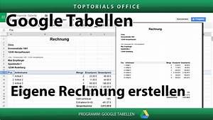 Rechnung Mit Mwst : eine rechnung mit mwst erstellen google tabellen spreadsheets youtube ~ Themetempest.com Abrechnung
