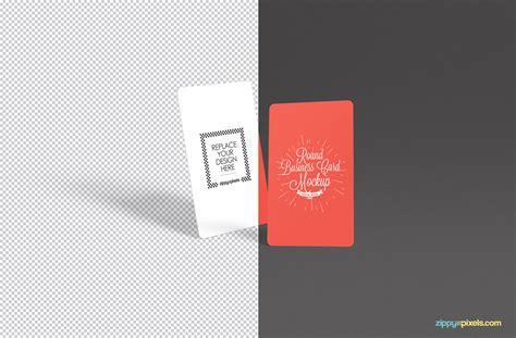Free Stylish Round Business Card Mockup Psd