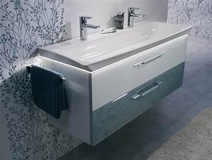 Vasque En Verre Salle De Bain : le meuble vasque en verre lumineux d 39 azurlign ~ Edinachiropracticcenter.com Idées de Décoration