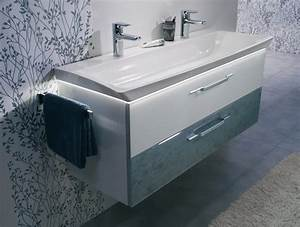 Le meuble vasque en verre lumineux d39azurlign for Salle de bain design avec vasque en verre castorama