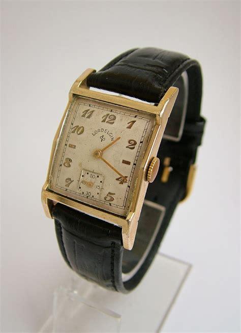 A Vintage Gents 1950 Lord Elgin 14k Gold Filled Wrist ...