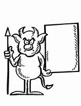 Devil Coloring Halloween Pages Fun Adult Sign Kitty Oct12 Purplekittyyarns sketch template