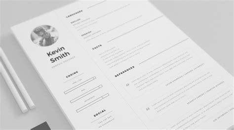 10 gorgeous minimalist resume templates the american genius
