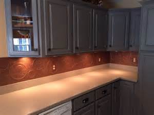 kitchen backsplash paint ideas hometalk diy kitchen copper backsplash