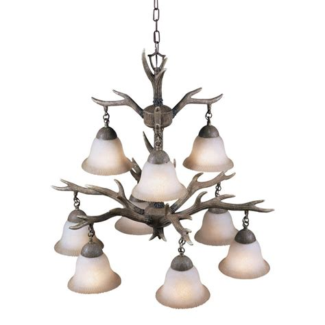 9 light chandelier aztec lighting buckhorn 9 light chandelier free shipping