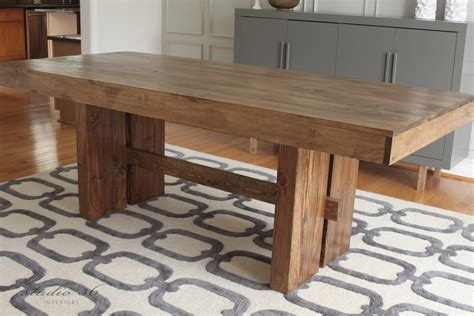 west elm inspired solid wood dining table