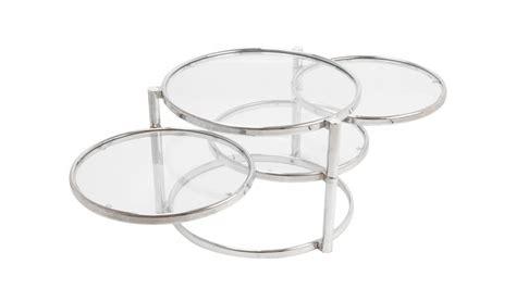 table basse ronde en verre table basse ronde quatre plateaux en verre et m 233 tal chrom 233 pas cher