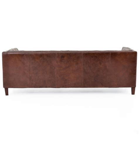 rustic brown leather sofa christopher rustic lodge tufted straight back brown